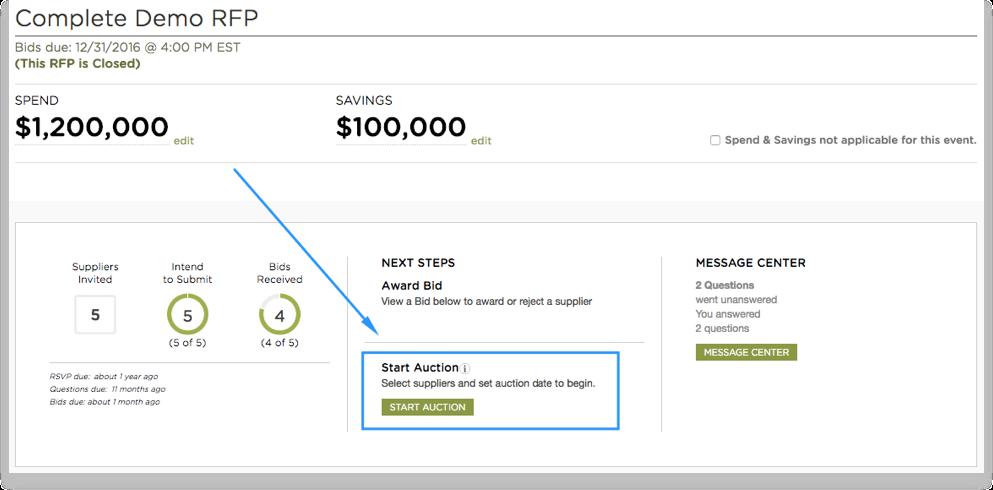Start an Auction – Scout RFP