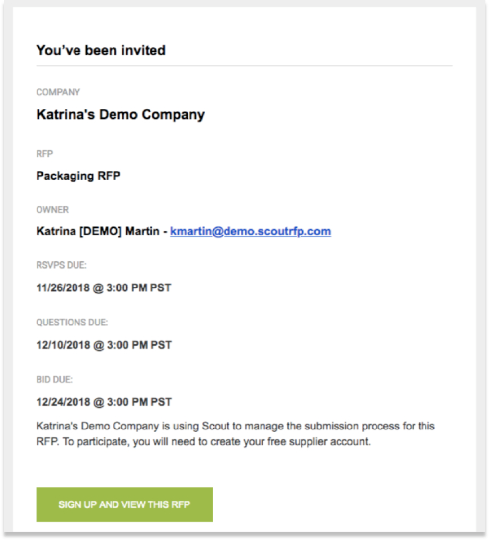 Changing Your Email Address – Scout RFP
